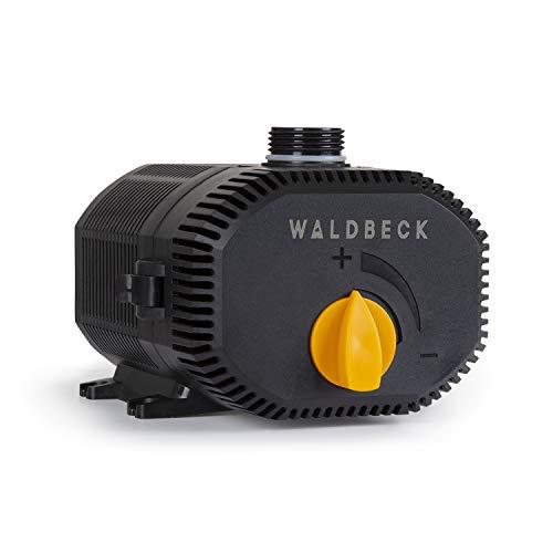 Waldbeck Nemesis T90 Teichpumpe, 90 Watt, Maximale Förderhöhe: 4m, 6200 l/h Durchsatz, Schutzklasse IPX8, Schutzkontaktstecker für den Außengebrauch, Anschlüsse: 3/4'' und 1'',Netzkabel mit 10m Länge