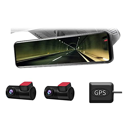 ドリームメーカー デジタルインナーミラー 11.88インチ 前後2カメラ STARVIS IMX307ソニー製センサー IPS液...