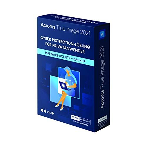 Acronis True Image 2021 | Advanced | 1 PC/Mac | 1 Jahr | Cyber Protection-Lösung fürPrivatanwender| Integriertes Backup, Virenschutz 250 GB Cloud Storage | iOS/Android |Box-Version