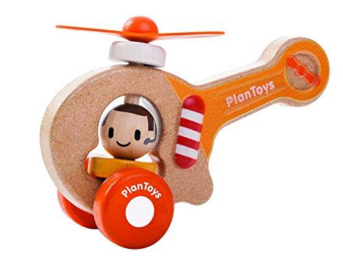 PlanToys- Helicóptero de Juguete (5685)