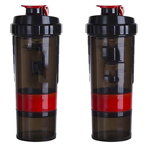 N \ A Batidora de Botella, Botella mezcladora de proteína Deportiva inspiradora para Entrenamiento físico, Botella mezcladora de proteína de 22 onzas y Dos recipientes