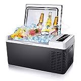 Firares 13 Mins Fast Cooling Portable Car Freezer, 20 Quart(18L) Car Refrigerator Freezer&Warmer (-8℉~131℉) for Car, RV, Van, Boat, 12/24V DC and 100/240V AC Fridge for Camping, Travel, Fishing