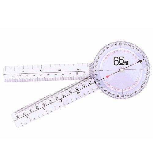 66Fit - Goniómetro (30,5 cm, plástico)