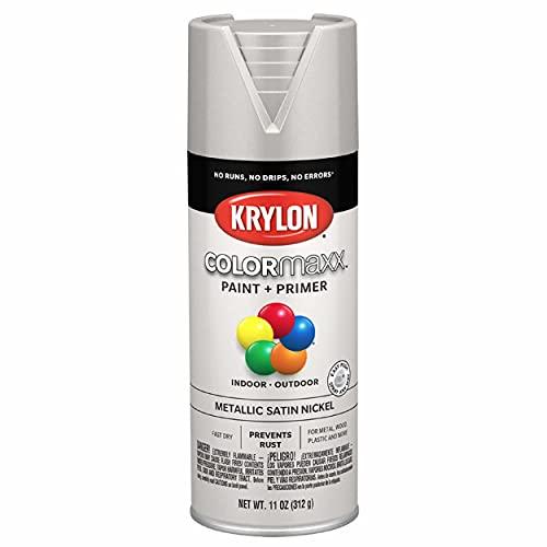 Krylon K05589007 COLORmaxx Spray Paint, 11 Ounce (Pack of 1), Satin Nickel