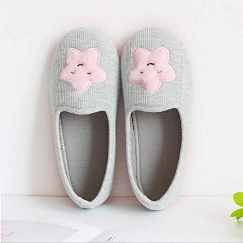 Diabetische pantoffels met brede pasvorm en traagschuim,Moederschapsschoenen met zachte hakken, ademende antislip pantoffels na levering-36_Pentagram-grijs,Comfortabele artritis oedeem schoenen