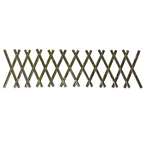 KLOP256 Bambuszaun, 40 x 180 cm, ausziehbare Barriere, Isolation, Outdoor, Garten, Sy, Installierungsnetz, dehnbarer Sichtschutz, Innenhof, Pflanze, Klettergerüst, Rasen (A)