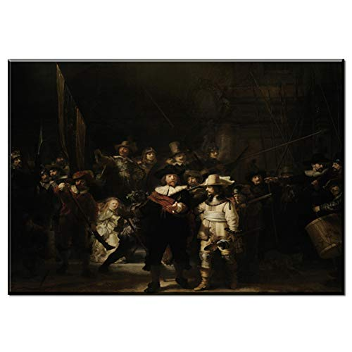 Rembrandt Harmenszoon van Rijn canvas schilderij prints poster Decoratie in woonkamer keuken kantoor entertainment -60x90cm No Frame