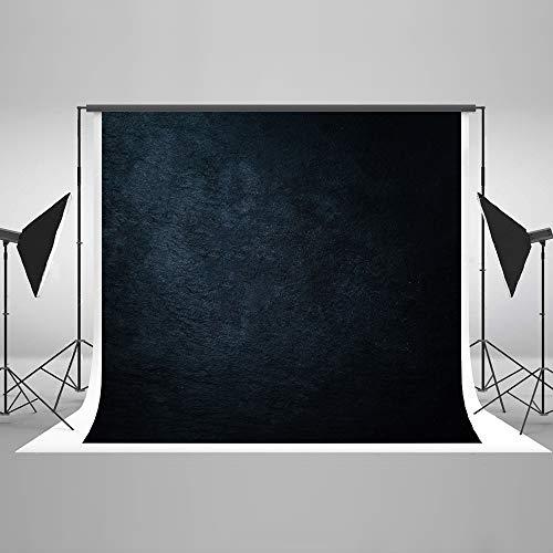 KateHome PHOTOSTUDIOS 2,2x1,5m Dunkel Blau Hintergründe Vintage Portrait Textur Mikrofaser Kulisse für Fotografie Prop