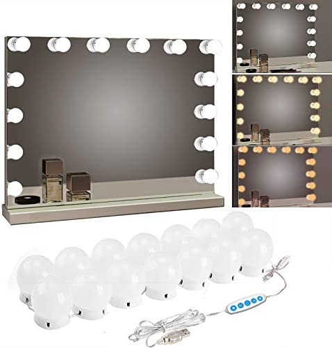 SICCOO Makeup Vanity Lights for Mirror Hollywood Style LED Vanity Mirror Lights with 14 dimmable product image