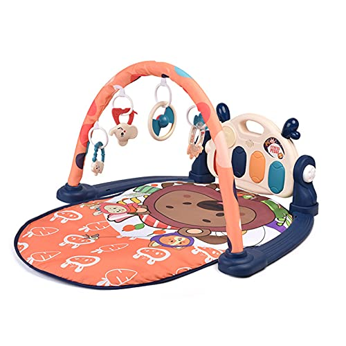 ZXJ Baby Kick and Play Gym Mat Activity Center 3 En 1 Fitness Música Y Luces Divertidos Juguetes De Piano para Bebés Recién Nacidos, Niñas Y Niños - Lavable A Máquina