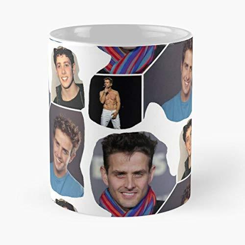 Nuevo The Mcintyre Joseph NKOTB Block Joe Joey On Kids Mejor Taza de café de cerámica de 11 oz Personalizar