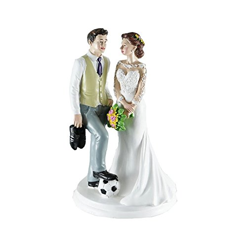 Figur BRAUTPAAR (Thema Fußball) für Hochzeitstorte