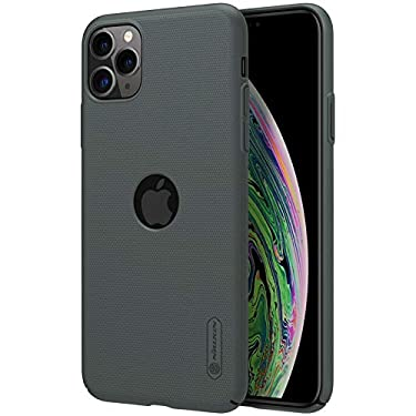 """Nillkin Case for Apple iPhone 11 Pro Max (6.5"""" Inch) Super Frosted Hard Back Cover PC with Logo Cut Dark Green Color"""
