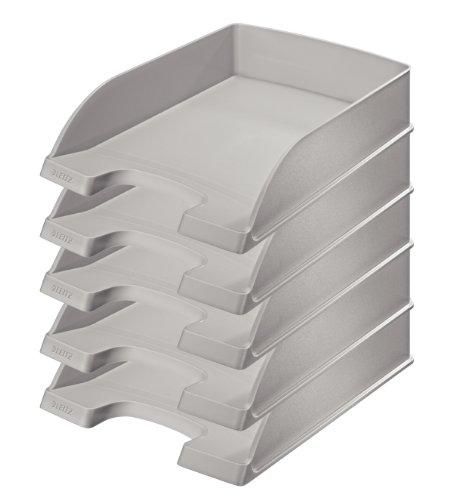 Leitz Plus Briefkorb, Standard, 5 Stück, grau, 52270085