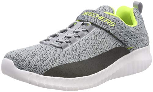 Skechers Jungen Elite Flex Slip On Sneaker, Grau (Grey/Charcoal Gycc), 34 EU