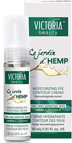 Victoria Beauty - Anti Aging Hanfcreme, Augencreme mit Hanföl hochdosiert, Creme gegen Falten und Augenringe, Jardin D\'Hemp (1 x 30ml)