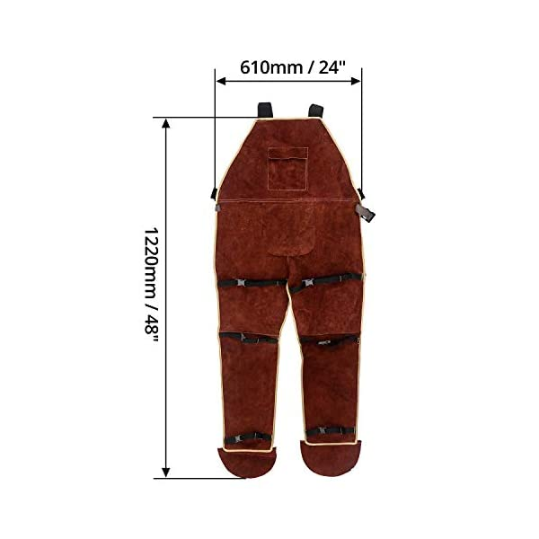 QWORK Leather Welding Apron with Split Legg 3