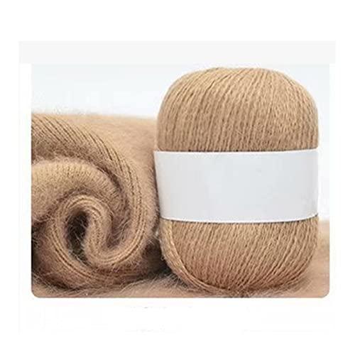 Hilo de Punto a Mano 50G / PCS Fluffy Long Mink Wool Hilado Hair Hilado Cashmere Hilado Mano Woven...