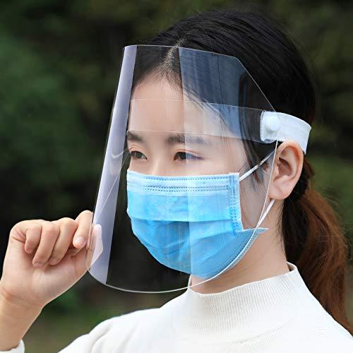 SUT Transparente Gesichtsmaske, Staubdichte Vollgesichts- Und Antibeschlag-Isolationskappe, Geeignet Für Erwachsene Und Kinder,White