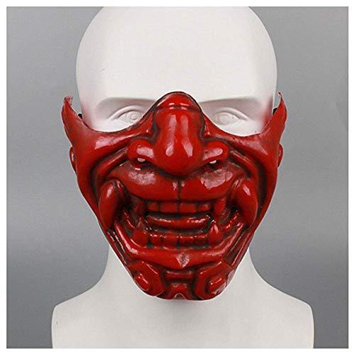 YaPin Máscaras de la Cara Japonesa del Diablo de Kabuki Media máscara de Yin Yang Maestro Prajna Diablo de Halloween LAN Ling Wang Cos