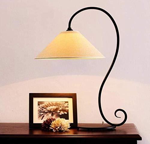 Lámpara inteligente Lámpara de mesa de lámpara, lámpara de escritorio Hierro forjado Hierro Retro Estudio Retro Lámpara de escritorio Nordic Simple Dormitorio Mesa de noche Lámpara, Color de la imagen