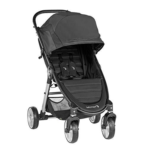 Baby Jogger City Mini 2 4-Rad-Kinderwagen | Single-Modell | zusammenklappbarer, leichter Kinderwagen | Jet (Schwarz)