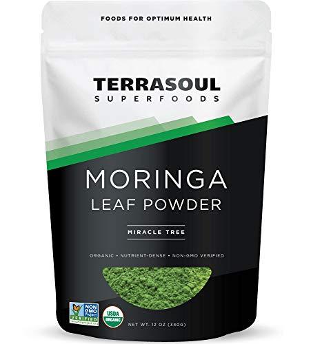 Terrasoul Superfoods Organic Moringa Powder, 12 Oz - Detox | Antioxidants | Immunity