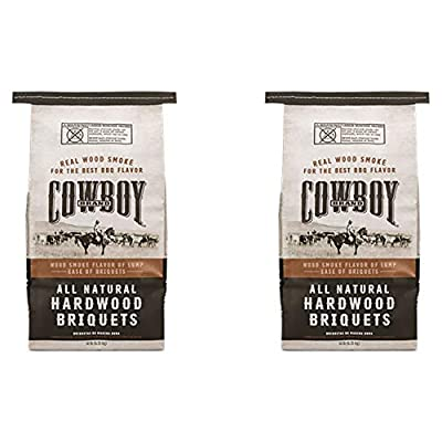 Duraflame Cowboy 14 Pound All Natural Hardwood BBQ Charcoal Briquets for Grilling (2 Pack)