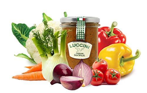 Luccini Ortholand-Sauce, 280 g, Mostarde – Früchte höchster Qualität (2 Stück)