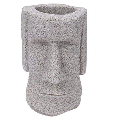 UseMost 3D Moai Pen Holder Desk Organizer Easter Island Moai Desktop