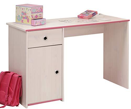 Schreibtisch Weiß B 121 cm PC Computertisch Kinderschreibtisch Jugendschreibtisch Bürotisch Jugendzimmer Kinderzimmer