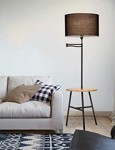 UWY Lámpara de pie Luces de Piso Pantalla de Tela Lámpara de Hierro Cuerpo Luces de Piso para Sala de Estar Mesa de Centro Moderna Simple Dormitorio Bombilla Creativa incluida, 3 (Color: 2)