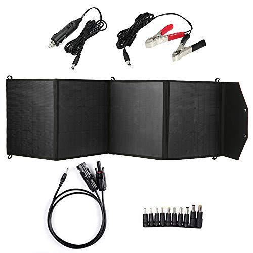 Panel Solar,Cargador Plegable Plegable del Panel Solar de Funien 80W con 2 Puertos USB
