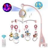 Giostra Musicale Neonato, Mobile Giostrina Culla Neonato, Sonagli Rotanti Pendenti E Carillon Con Telecomando Con Projector Baby Educational Toys