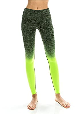 Women's Tights Active Yoga Running Pants Workout Leggings - Two Tone Shade