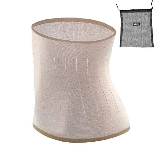 ITODA Wärmegürtel Unisex Rückenwärmer Winter Taillengürtel Nierenschutz Nierengurt Damen Herren Wärmeschutz Gürtel Nierenwärmer Taille Unterstützung Bauchgürtel für Erwachsene Jugendliche Hellbraun L