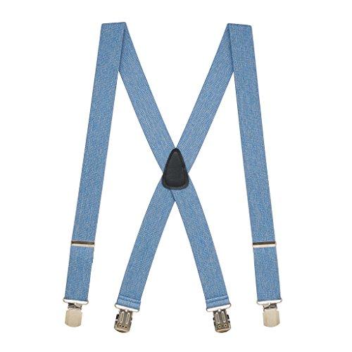 SuspenderStore Men's Denim 1.5-Inch Small Pin Clip Suspenders