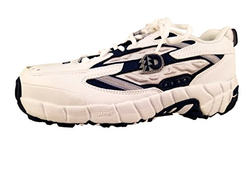 Dunham DSW664WB Womens ESD Steel Toe Athletic Shoes, White & Navy, 10 M