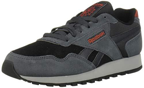 Reebok Men's Classic Harman Run Shoe, cold grey/black/red/grey, 9.5 M US