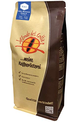 Indien Monsooned Malabar AA (100% Arabica) Spitzenkaffee, ganze Bohne (1 kg)