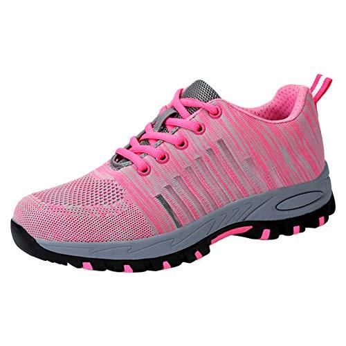 Leicht Arbeitsschuhe Sicherheitsschuhe Mit Stahlkappe Damen Schuhe Sportlich Atmungsaktiv Schutzschuhe Arbeitsschuh Bequemer Rosa02 39 EU