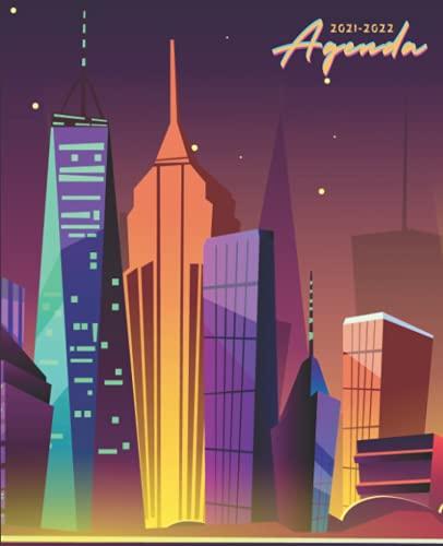 Agenda 2021 2022: Agenda Escolar 2021-2022 New york semana vista | Planificador semanal para niñas y niños | material escolar Ideal para Estudiantes de Primario colegio secundaria | Portada neuva york