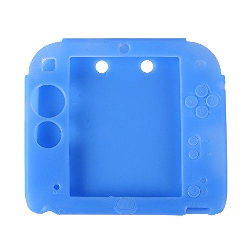 Silikon Gummi Schutzhülle Schutztasche Hülle Abdeckung Case Cover Haut Skin für Nintendo 2DS rutschfest, kratzfest
