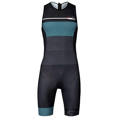 Santini Body Triathlon Sleek S9 Trisuit, AZZURRO, L