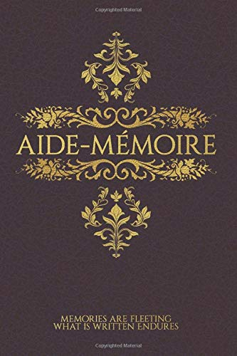 Aide-Mémoire: A Blank Lined Journal