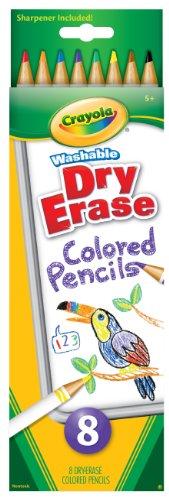Crayola 8 Count Washable Dry-Erase Colored Pencils