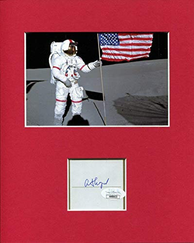 Alan Shepard NASA Astronaut Apollo Moonwalker Signed Autograph Photo Display - JSA Certified