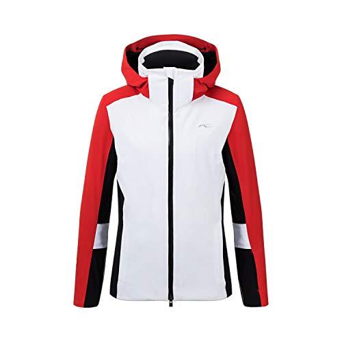 KJUS Women Laina Jacket Rot, Damen Regenjacke, Größe 36 - Farbe White - Fiery Red