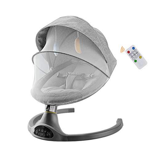 Xinjin Silla Mecedora Inteligente eléctrica Rocker Baby con mosquitera Swing Mute de Cinco velocidades Silencioso Bluetooth USB Música Silla para bebé