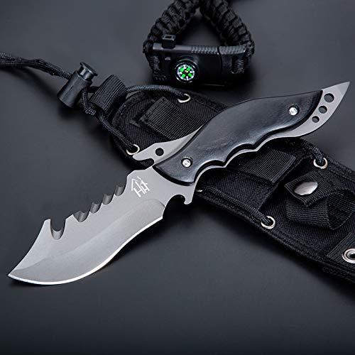 Hobby Hut HH-F29 Jagdmesser, Messer mit Fester Klinge (Black)